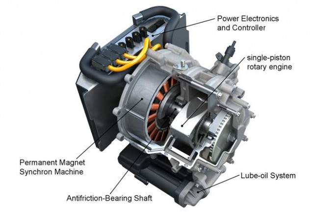 AVL rotary-engine range extender for electric-drive vehicles, July 2010 #9775648