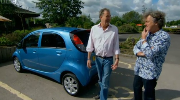BBC Top Gear Team Use Handicapped Spaces During Electric Car Segment
