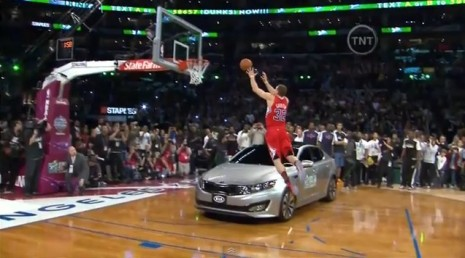 Blake Griffen Slam Dunk Over Kia Optima
