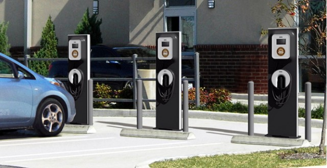 ECOtality Blink charging stations for electric & plug-in cars