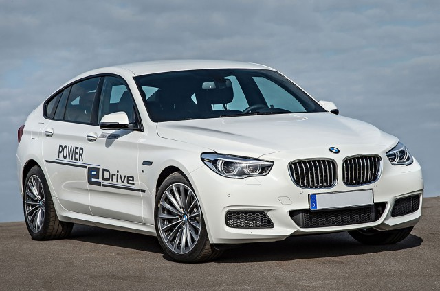 BMW 5-Series GT development prototype for Power eDrive plug-in hybrid system, Nov 2014