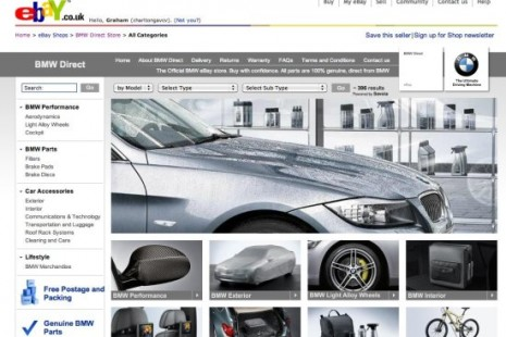 BMW eBay UK Web Page