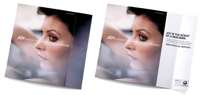 BMW 'Joy' faux fragrance ad