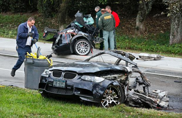 BMW M3 ripped in two from high speed crash