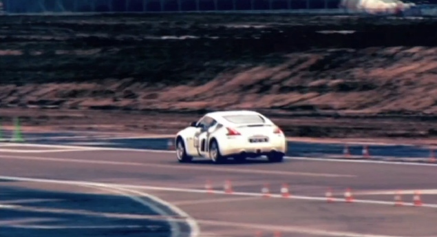 Bryan Heitkotter lapping a 370Z at the GT Academy