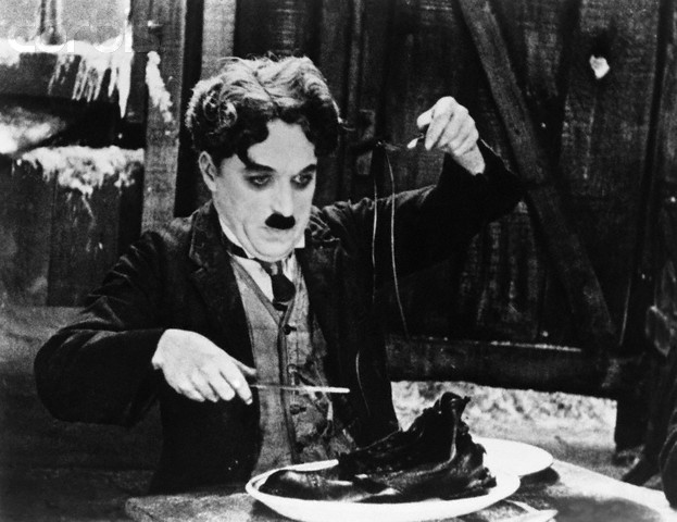 Chaplin in 'The Gold Rush'