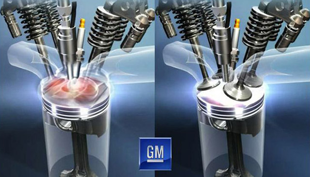 Conventional versus sparkless ignition - Image courtesy of GM