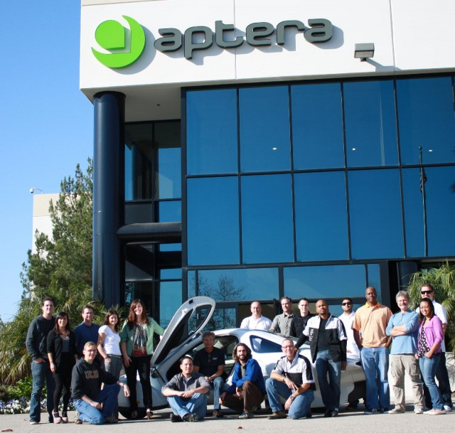 Employees of Aptera Motors, Vista, California, on the day it closed, Dec 2, 2011