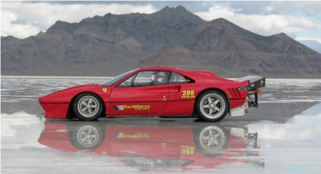 Ferrari 288 GTO With Chevrolet Big Block At Bonneville