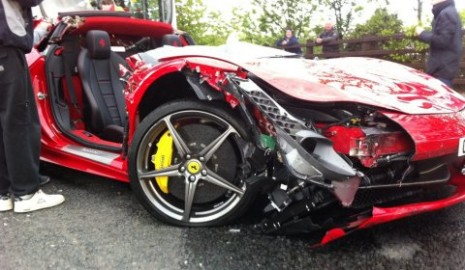 Ferrari 458 Italia Crashes Spectacularly In The Uk