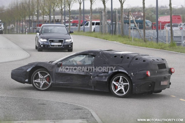 Ferrari Enzo test mule spy shots