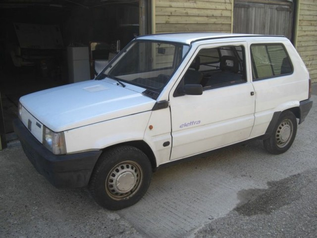 ebay watch historic fiat panda electric car for sale. Black Bedroom Furniture Sets. Home Design Ideas