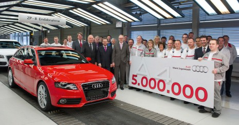 Five-millionth Audi A5 is built