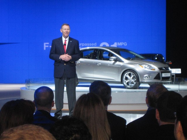 Ford CEO Alan Mulally at 2010 Washington DC Auto Show #7586179