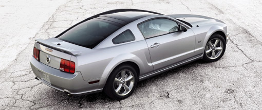 ford offers glass roof option for 2009 mustang coupe. Black Bedroom Furniture Sets. Home Design Ideas