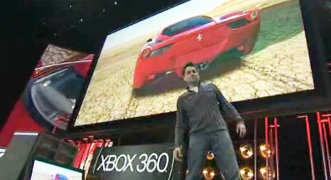 Forza Motorsport 4 demonstration using Microsoft Kinect