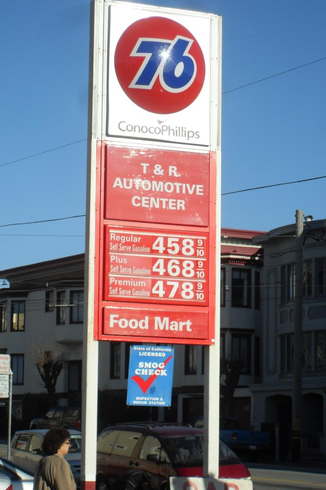 Gas prices, San Francisco, CA