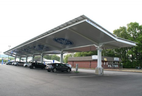 More Sites Install Solar Carports For Electric Car Charging