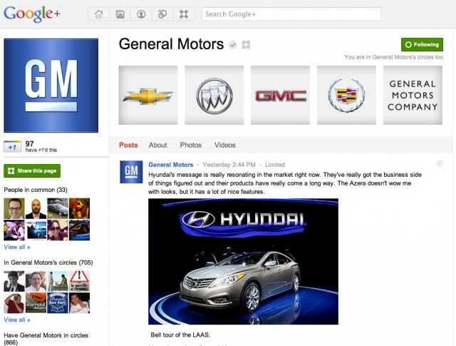 General motors takes unique approach to google for General motors cars brands