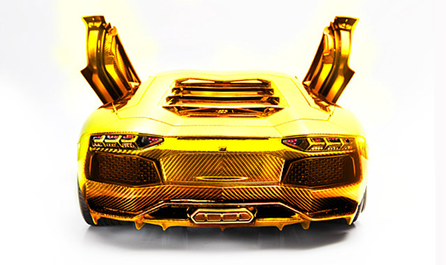 Image: Gold, Platinum And Diamond Encrusted Lamborghini