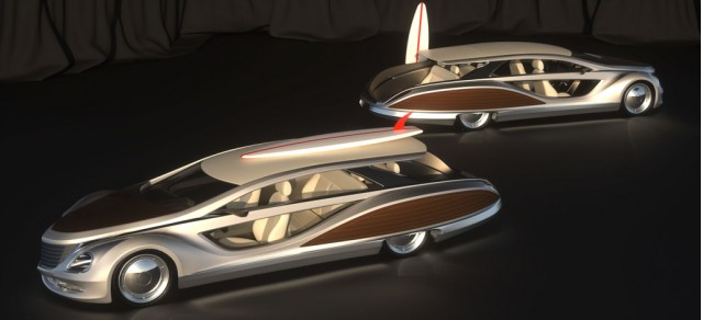 Gray design s strand craft limousine beach cruiser concept for Maritime motors used cars