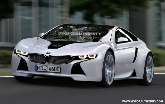 Green BMW sports car based on Vision EfficientDynamics ...