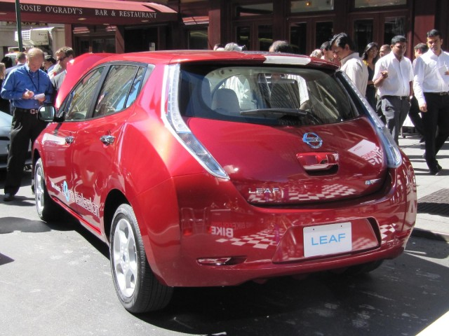 Hertz electric-car rental press event, New York City, September 2010 #8504442