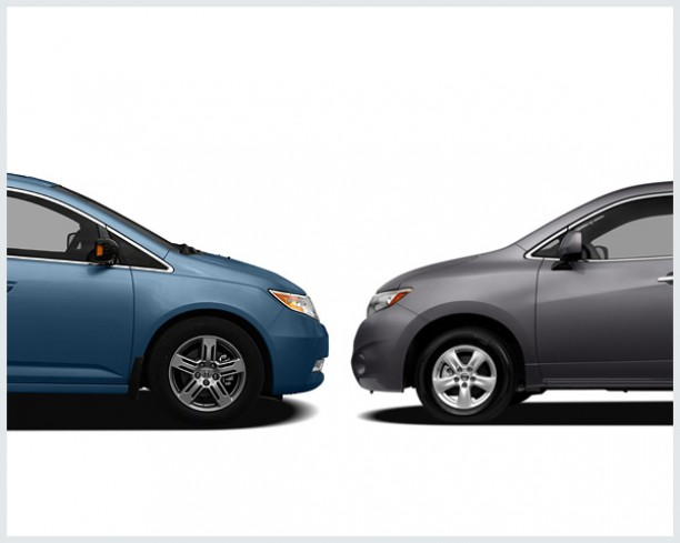 car connection  honda odyssey   nissan quest compare cars