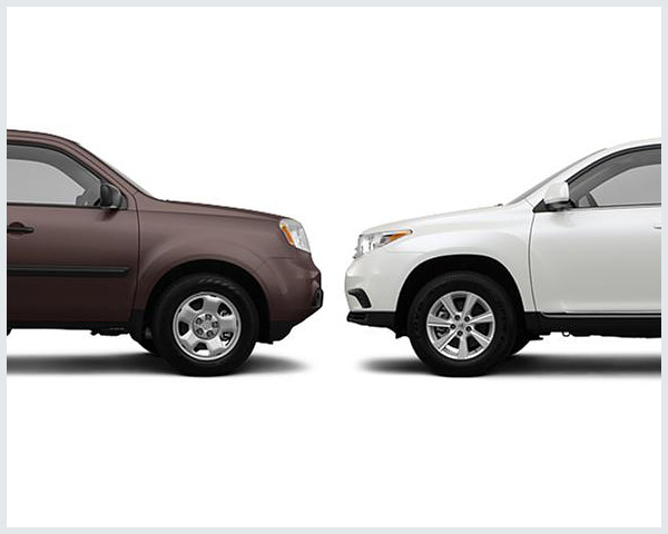 honda pilot vs toyota highlander compare cars. Black Bedroom Furniture Sets. Home Design Ideas