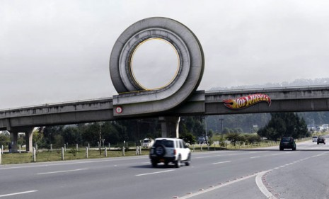 Hot Wheels loop in Bogota, Colombia
