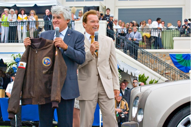 Jay Leno and Arnold Schwarzenegger at the 2009 Pebble Beach Concours d'Elegance #7866335