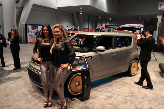Kia's music-themed Soul concepts at the 2013 SEMA show