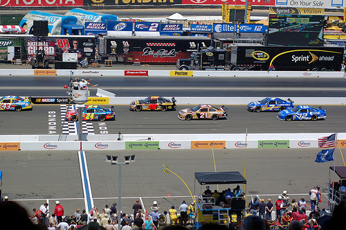 Kurt Busch wins the Toyota/Save Mart 350 at Infineon Raceway. Photo by Flickr user Ross Harmes