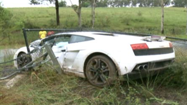Lamborghini Gallardo crashed by groom in Australia