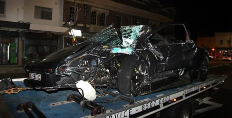 Lamborghini Murcielago crash in Sydney