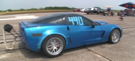 Late Model Racing twin-turbo Corvette