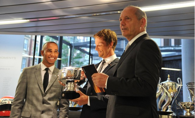 Lewis Hamilton And Jenson Button Attend Mclaren Launch