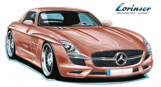 Lorinser Mercedes-Benz SLS AMG preview sketch #8375145