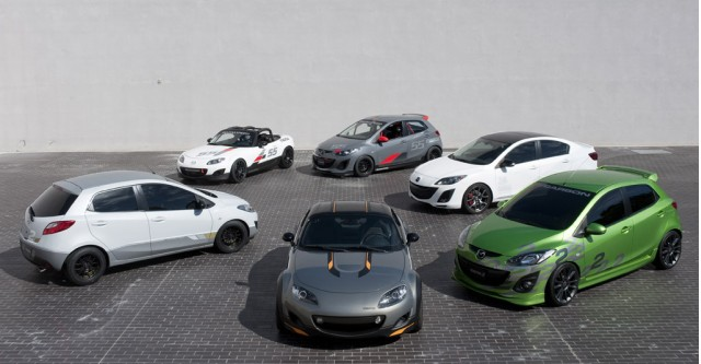 Mazda's race track inspired offerings at 2010 SEMA #8934643