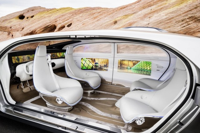 the future arrives early with mercedes benz f015 autonomous car concept video. Black Bedroom Furniture Sets. Home Design Ideas