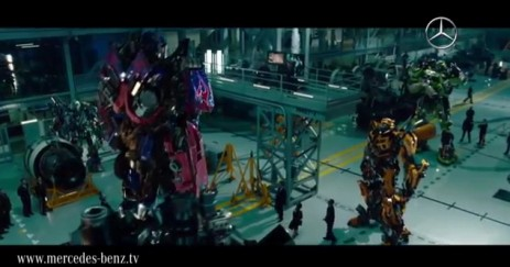 Mercedes-Benz lands its first role in the Transformers movie series