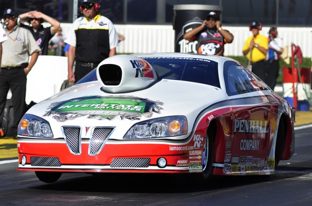 Mike Edwards had the top quarter-mile pass in Pro Stock - Anne Profit photo