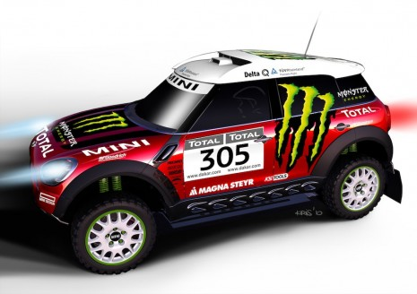 Auto Racing News  Media on Mini All4 Racing Dakar Rally Race Car By X Raid Team