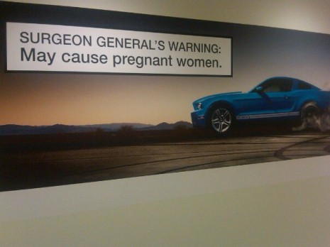 Mustang GT500 Surgeon General's warning