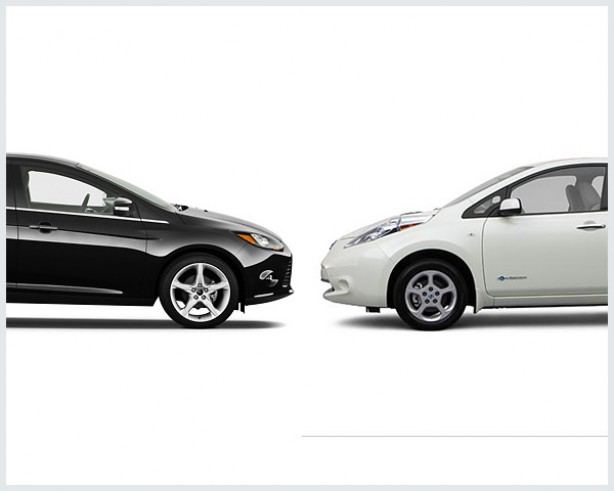 nissan leaf vs ford focus electric compare cars. Black Bedroom Furniture Sets. Home Design Ideas