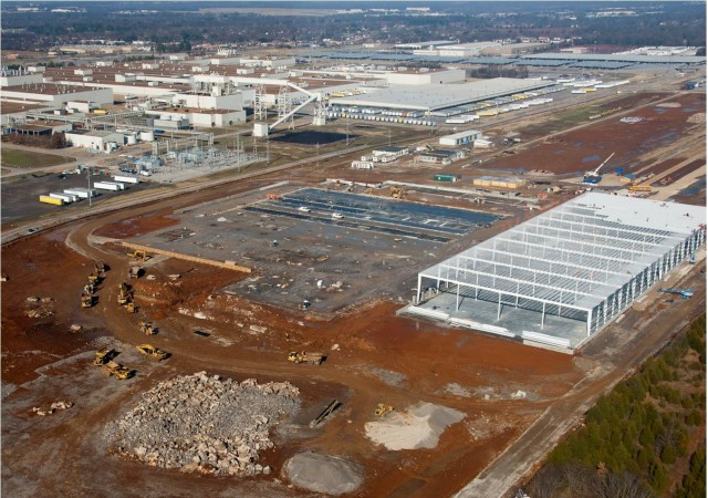 Nissan lithium-ion battery pack plant under construction, Smyrna, Tennessee, Jan 2011 #7994807
