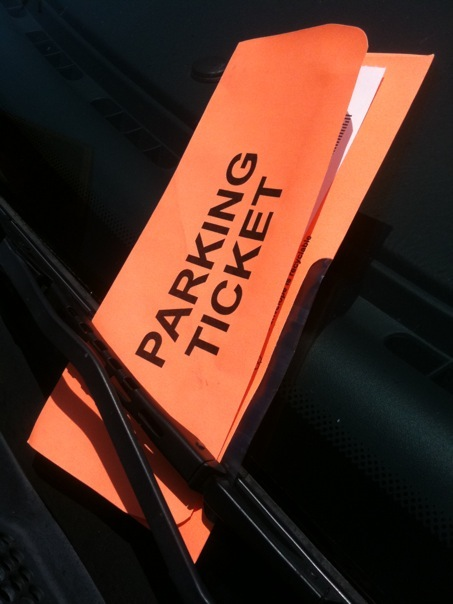 Parking Meter Ticket While In Car