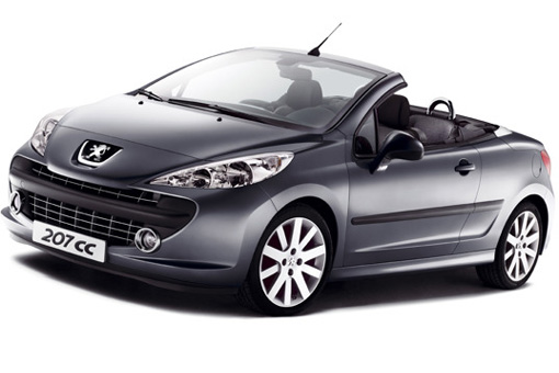 peugeot unveils 207cc cabrio. Black Bedroom Furniture Sets. Home Design Ideas