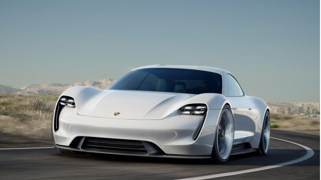 Porsche Mission E concept electric car