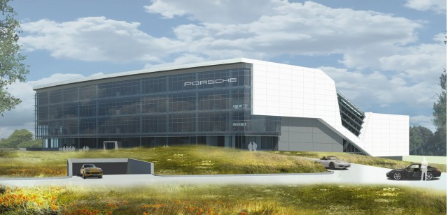 Porsche's rendering of its new American headquarters